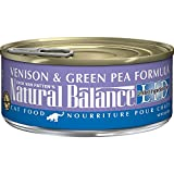 Natural Balance L.I.D. Limited Ingredient Diets Canned Wet Cat Food, Venison & Green Pea Formula, 5.5-Ounce Can (Pack of 24)