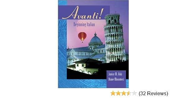 Amazoncom Avanti Beginning Italian 9780072859836 Janice Aski