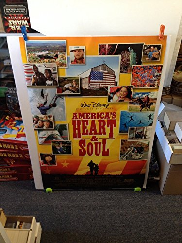 America's Heart & Soul Disney Movie Theatre Poster 27x40 One Sheet Double Sided
