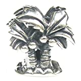 Sterling Silver Palm Tree Beach European Style Bead Charm