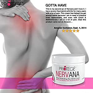 Premium Pain Relief Cream - NERVANA - Best Natural Anti-Inflammatory Topical Pain Reliever Treatment (2 oz)