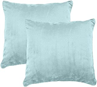 """product image for American Blanket Company, 2-Pack Soft Fleece Pillows, Non-Piling and Non-Shedding! 17"""" x 17"""", Buxton Blue"""