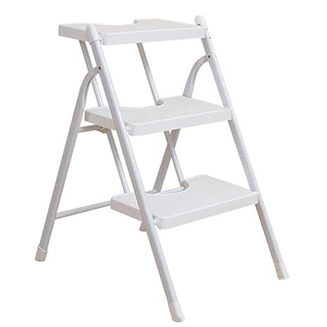 Peachy Amazon Com Caijun Foldable Ladder Stool Household Iron Ncnpc Chair Design For Home Ncnpcorg