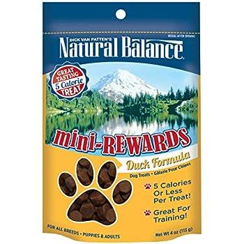Natural Balance Mini Rewards Dog Treats, Duck Formula, 4-Ounce