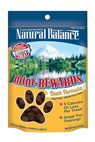 Natural Balance Mini Rewards Dog Treats, Duck Formula, 4-Ounce