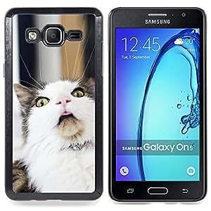 """Qstar Arte & diseño plástico duro Fundas Cover Cubre Hard Case Cover para Samsung Galaxy On5 O5 (LOL Gato divertido"""")"""