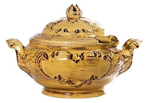 Intrada BAR7424Y Baroque Soup Tureen, 15'' W x 10'' H, Honey by Intrada