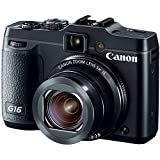 Canon PowerShot G16 12.1 MP CMOS Digital Camera with 5x Optical Zoom and 1080p Full-HD Video Wi-Fi Enabled(Renewed)