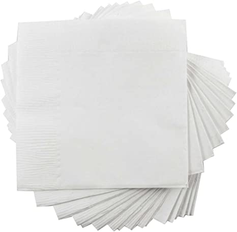 Amazon Com Jam Paper Medium Lunch Napkins 6 1 2 X 6 1 2 White 50 Pack Kitchen Dining