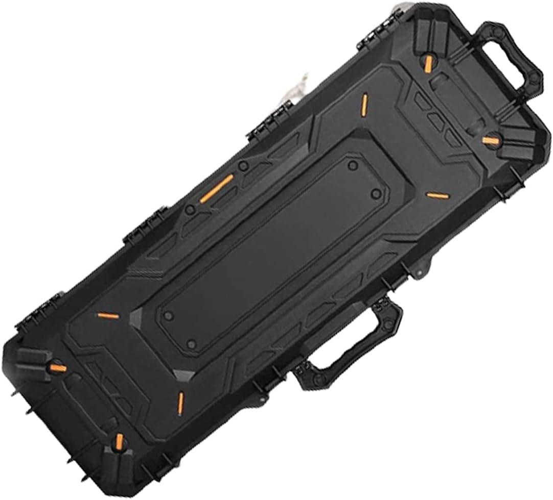Maletin Fibra Negro Acolchado Armas de Fuego Largas y Cortas Cuidado Armas Modelismo Transporte Objetos Delicados Portabotellas de Regalo
