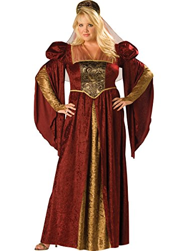 Renaissance Maiden Costume - Plus Size 2X - Dress Size (Plus Size Holloween Costume)