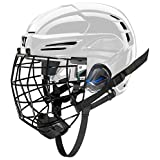 COVERT PX2HC6WHM Warrior Ice Hockey Players Helmet with Cage, White, Medium