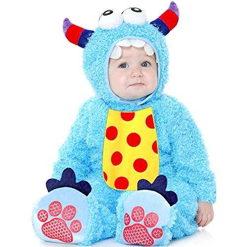 [Costumes Little Monster Madness Infant - Blue-Infant] (Infant Girl Monster Halloween Costume)