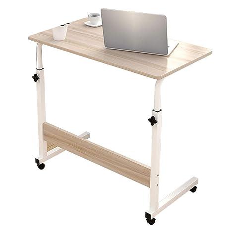 Hongyan Tipo C Bandeja para portátil Soporte de Rueda Desmontable Mesa para computadora portátil Material MDF