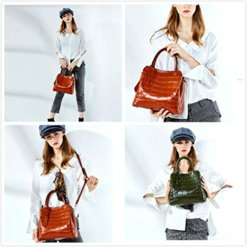 4 de rojo de mujer hombro Bolso POR de relieve 4 Flip Square WTING Bolso de satchel la Color Crossbody Bolso grande en Bolso BqvgZvd
