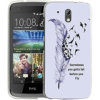 online retailer 4fa72 ba41c HTC Desire 526 Case, NageBee - HTC Desire 526 Design Dual-Use Flip PU  Leather Fold Wallet Pouch Case for HTC Desire 526 (Leather Wallet Black)