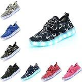 DEDU Kids Fashion Breathable LED Light Up Shoes