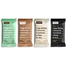 RXBAR Whole Food Protein Bar, Chocolate Variety Pack, 4 Flavors (8 Bars)