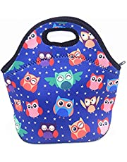 Insulated Neoprene Lunch Bag for Women,Men and Kids, Reusable Soft Lunch Tote for Work School