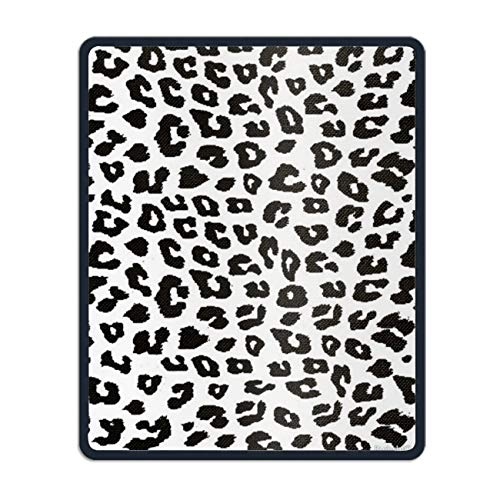 Printed Natural Rubber Leopard Spot Mouse Pad with Stitched Edges 8.7 × ()