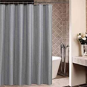 Uphome 72 Inch By 78 Inch Solid Pattern Shower Curtain Waterproof Fabric Bath
