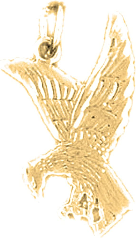 JewelsObsession Sterling Silver 39mm Eagle Charm w//Lobster Clasp