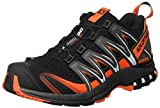 Salomon Men's Xa Pro 3D Trail Runner, Black/Dark Cloud/Tomato Red, 7 D US