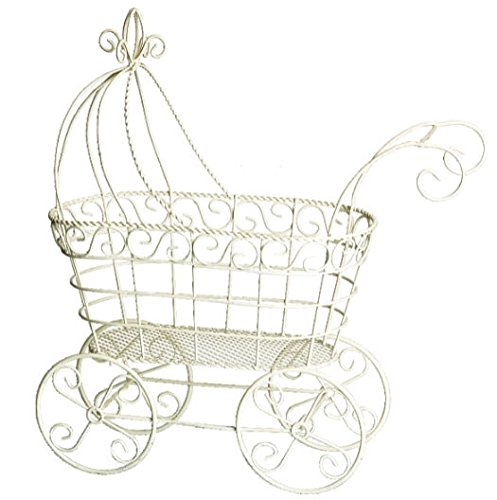 wire baby carriage centerpiece - 1