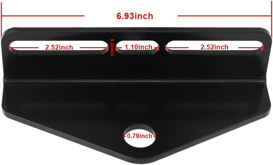 "Hildirix Universal Zero Turn Mower 4/""-6/"" Trailer Hitch Black Heavy Steel"
