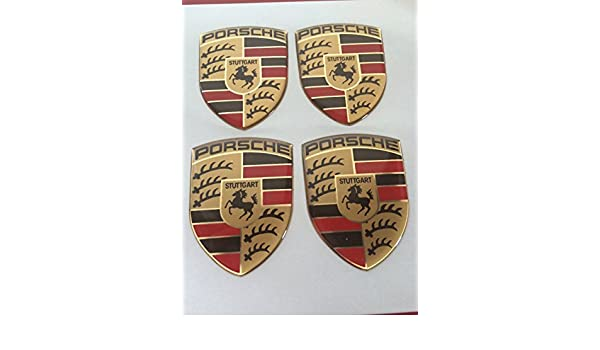 Porsche Pegatinas para buje Tapa en aluminio Llantas y Tapacubos 35/45 mm: Amazon.es: Coche y moto