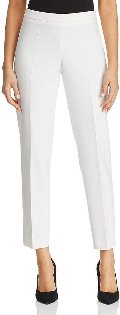 Amazon Com Hugo Boss Boss Pantalones De Piernas Rectas Para Mujer Tiluna Cropped High Rise Color Blanco 10 Unidades Clothing