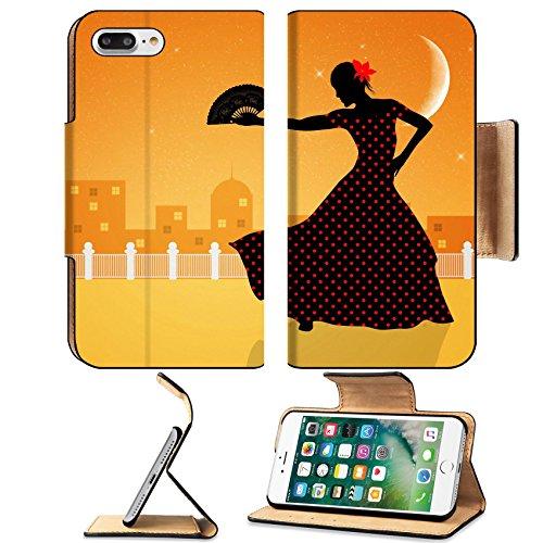 Flash Dance Latin Costumes (Liili Premium Apple iPhone 7 Plus Flip Pu Leather Wallet Case Illustration of flamenco dancer iPhone7 Plus Image ID 21730600)