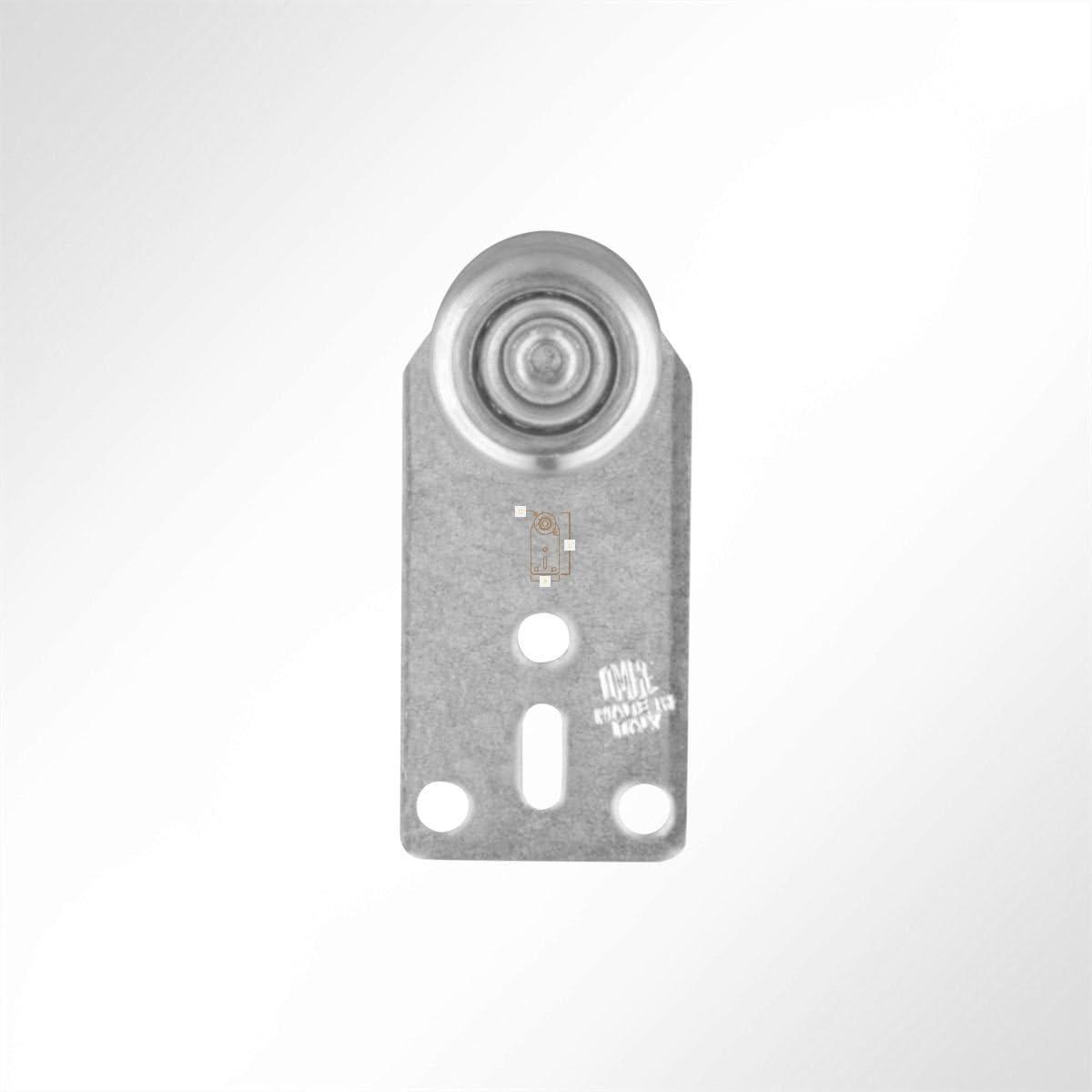 1 St/ück LYSEL Laufrolle F/ührungsrollen Laufwagen Rollenlaufwerk Kugellager 35 Kg Laufschiene