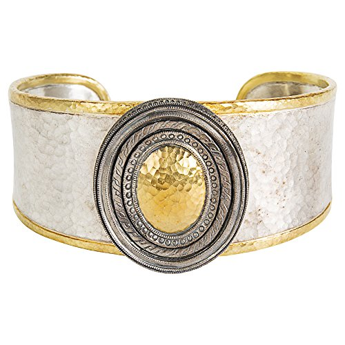 Gemma by WP Diamonds Gurhan Cavalier Cuff Bracelet in Sterling Silver & 24k White Gold MSRP 4,450