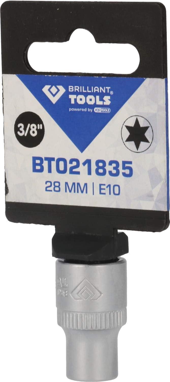 Brilliant Tools BT021835 3//8 Inch Torx Socket 28 mm E10 Insert