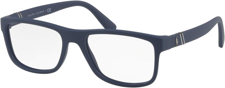 Polo 0PH2184 Monturas de gafas, Rectangulares, 55, Matte Navy Blue ...