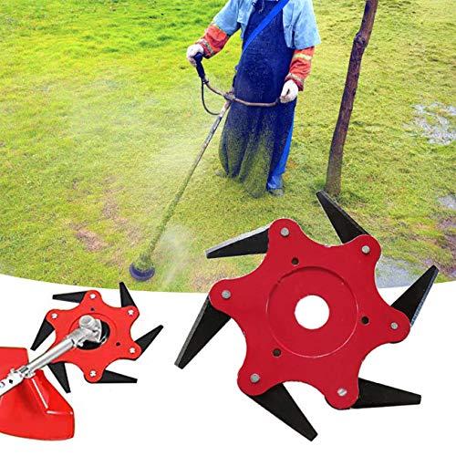 4 Steel Mower - 9M9 Trimmer Head 6 Steel Razors Rotate 65Mn Lawn Mower Grass Brush Cutter Grass Weed Eater Brush Cutter Tool
