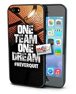 Cool Basketball Hashtag Never Quit One Team One Dream Hard Case for iphone 5s/4s