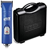 Andis ProClip AGC2 UltraEdge Universal Supper 2-Speed Professional Grade Pet, Dog & Animal Powerful Clipper with Size #10 Detachable Blade - Includes Hard Case for Added Protection. (Navy Blue)