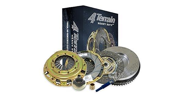 4Terrain Heavy Duty Premium Clutch Kit | ER2 Heavy Duty Cover Assembly | Heavy Duty Clutch Plate | Release bearing | Solid Mass Flywheel | Clutch Alignment ...