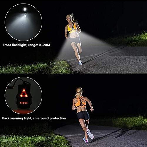 TIEMORE L/ámpara De Luz para Correr Al Aire Libre USB Recargable Luz De Pecho Led 3 Modo Linterna De Luz De Fondo Impermeable para Corredores Nocturnos Corredores Caminando C/ámping