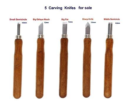 Becho - Juego de cuchillos para tallar madera (5 PCS ...