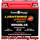 Harley FXDF Dyna Fat Bob 1584, 1690 500cca Lightning Start 20ah High Performance Sealed AGM Motorcycle Battery replacement for year 2008, 2009, 2010, 2011, 2012, 2013, 2014