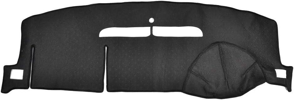 Younar Car Dash Cover Mat Black Dashboard Pad Custom Fit Dashboard Protector for 07-12 Tahoe Suburban 07-13 Silverado