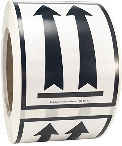 Air Specialty Black Arrows Up Labels 3 x 4 Inch 500 Adhesive Stickers ()