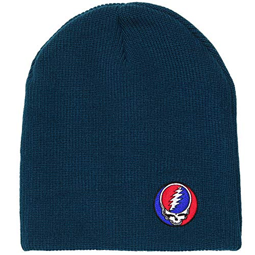 Ripple Junction Grateful Dead Steal Your Face Patch Adult Beanie (Navy)