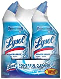 Lysol Power & Free Toilet Bowl Cleaner with Hydrogen Peroxide, 24 oz, Pack of 2