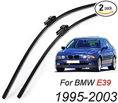 For BMW M5 Front Wiper Blade Replacment Rubber Pair Refills