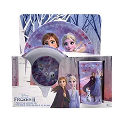 Danawares Frozen 2 3Pcs Melamine Set in Open Pack Age/Grade 3+: Toys & Games
