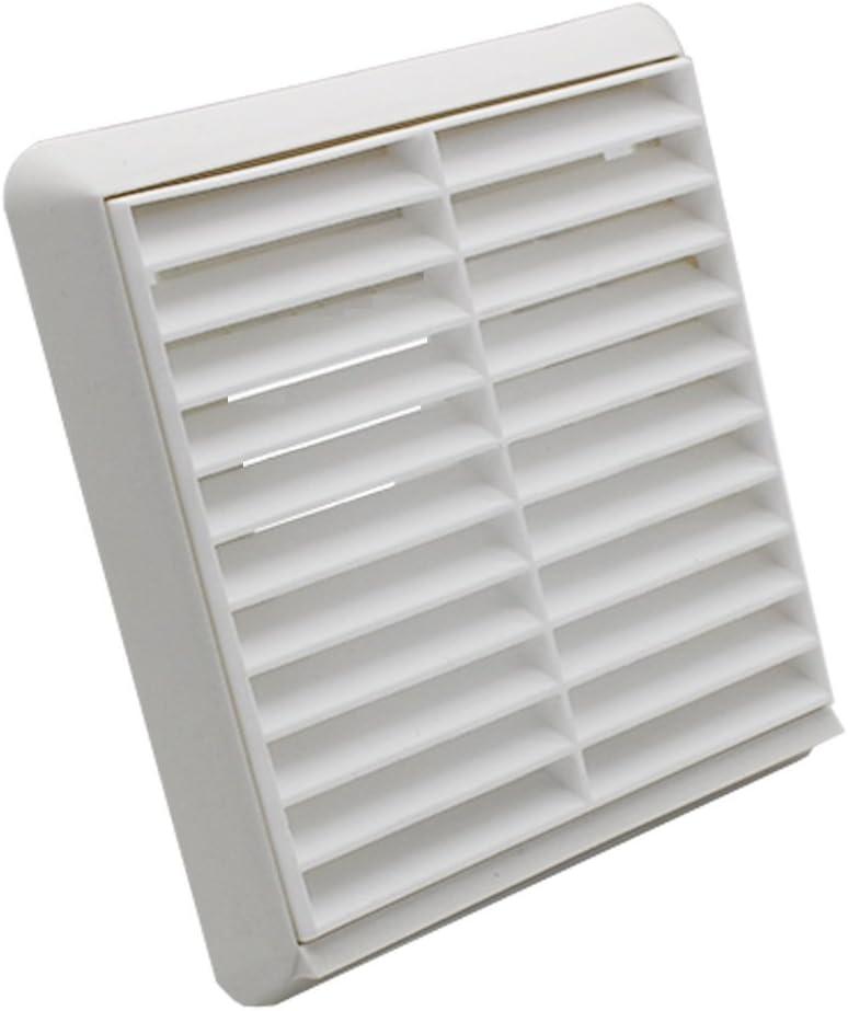 con mosquitera integrada y 3 solapas de obturador color blanco 110 mm x 54 mm Juego de 3 solapas de ventilaci/ón para pared universales con rejilla de ventilaci/ón Invero/®